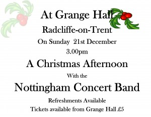 Christmas Afternoon Concert Poster