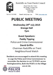 Public Meeting with Paddy Tipping