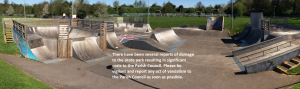 Skate park - vandalism