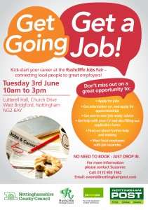 Rushcliffe Jobs Fair Flyer Front