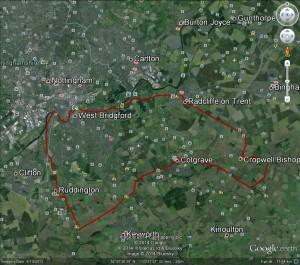25 mile route